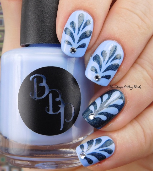 Bad Bitch Polish Blue Steel and Poseidon, Polished Vino Paisley Perennial nail vinyls, Crystal Parade Pearl Mix Snowfall | Be Happy And Buy Polish