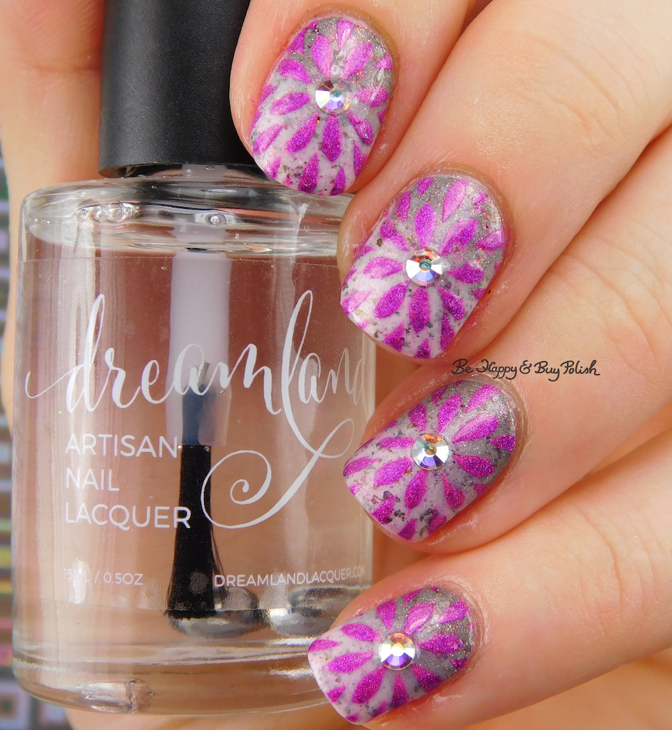 Girly Nail Art: Flower Gradient Nail Art With Girly Bits Cosmetics January