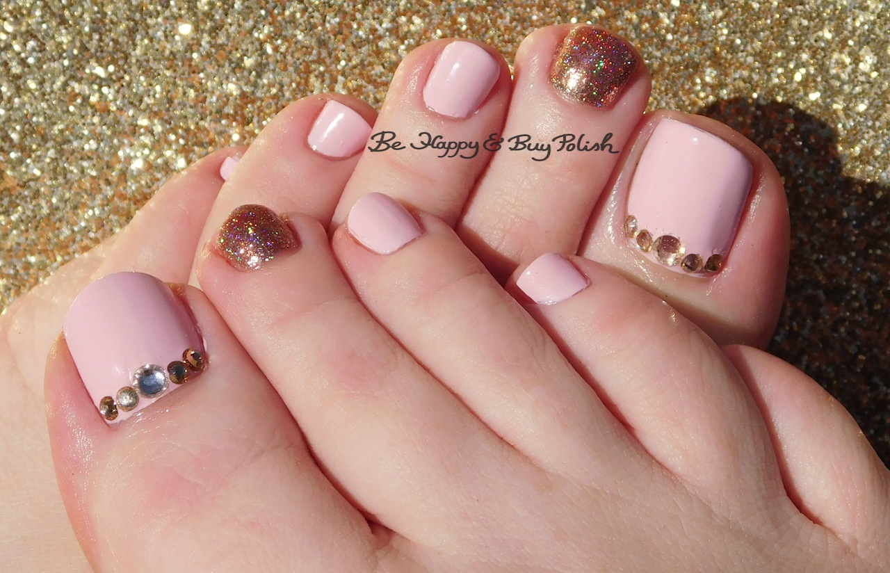 Soft, Sweet, and Blingy Pedicure with Daisy and ILNP | Be Happy and ...