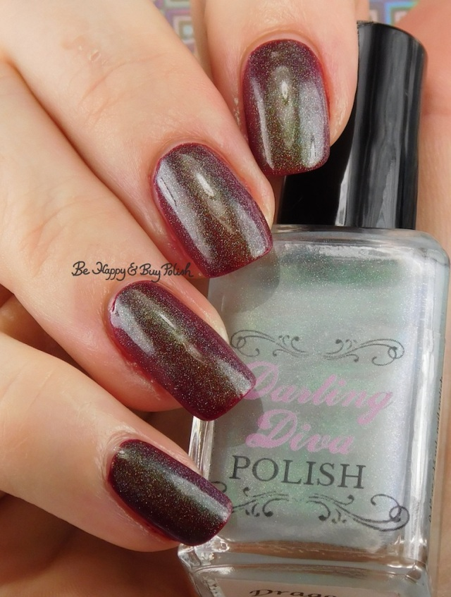 Darling Diva Polish Dragon Pee holo over red | Be Happy And Buy Polish