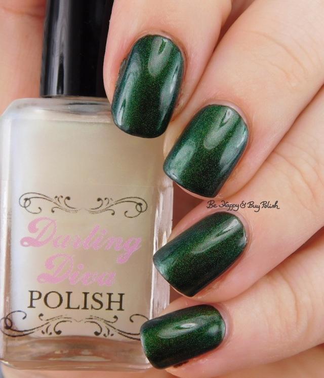 Darling Diva Polish Dragon Pee over black | Be Happy And Buy Polish