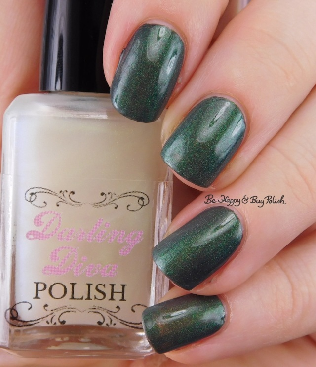 Darling Diva Polish Dragon Pee over grey | Be Happy And Buy Polish