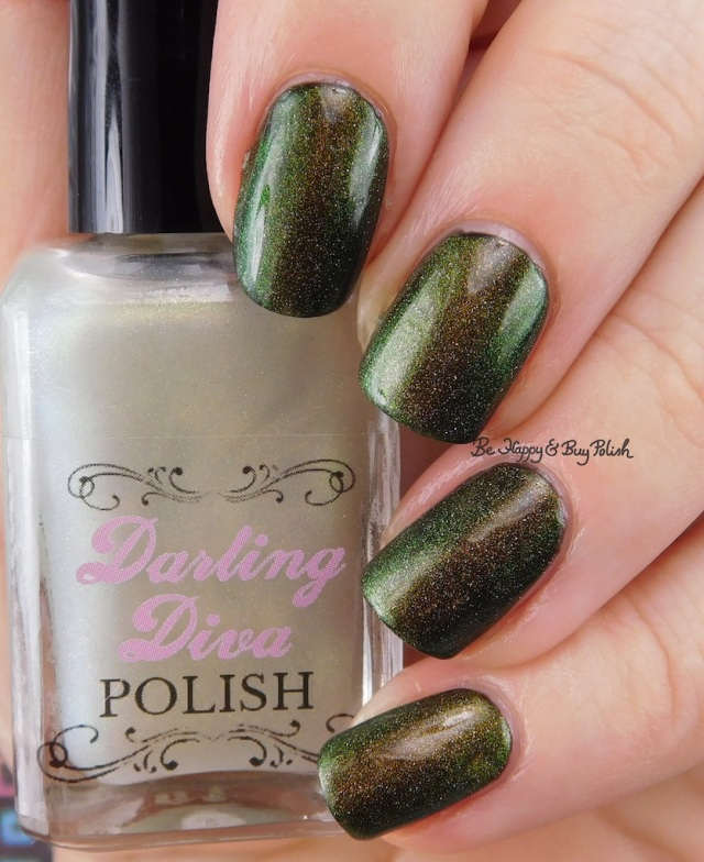 Darling Diva Polish Fairy Pee holo over black | Be Happy And Buy Polish