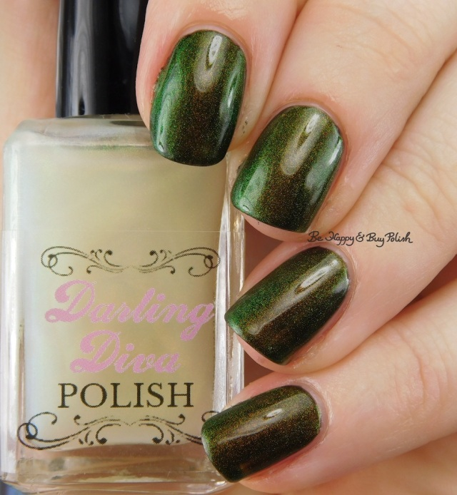 Darling Diva Polish Fairy Pee over black | Be Happy And Buy Polish