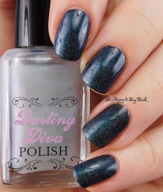 Darling Diva Polish Kelpie Pee holo over black | Be Happy And Buy Polish
