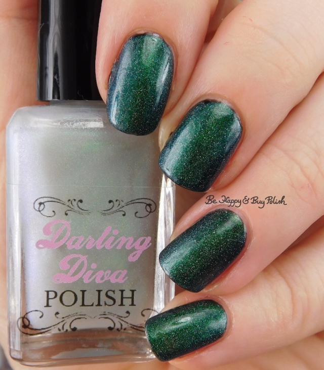 Darling Diva Polish Pegasus Pee holo over black | Be Happy And Buy Polish