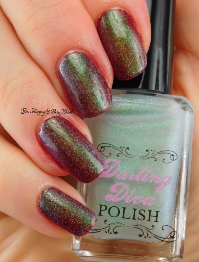 Darling Diva Polish Pegasus Pee holo over red | Be Happy And Buy Polish