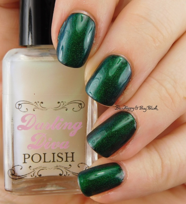 Darling Diva Polish Pegasus Pee over black | Be Happy And Buy Polish
