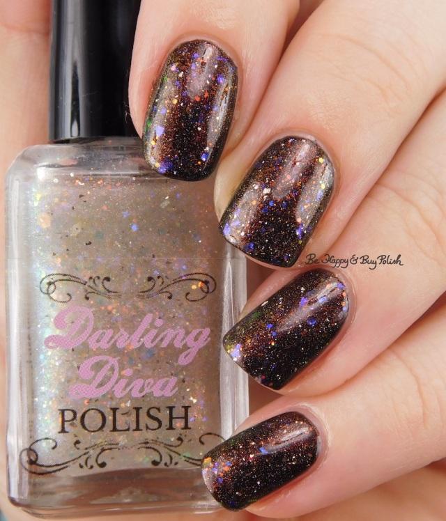 Darling Diva Polish Unicorn Pee over black | Be Happy And Buy Polish