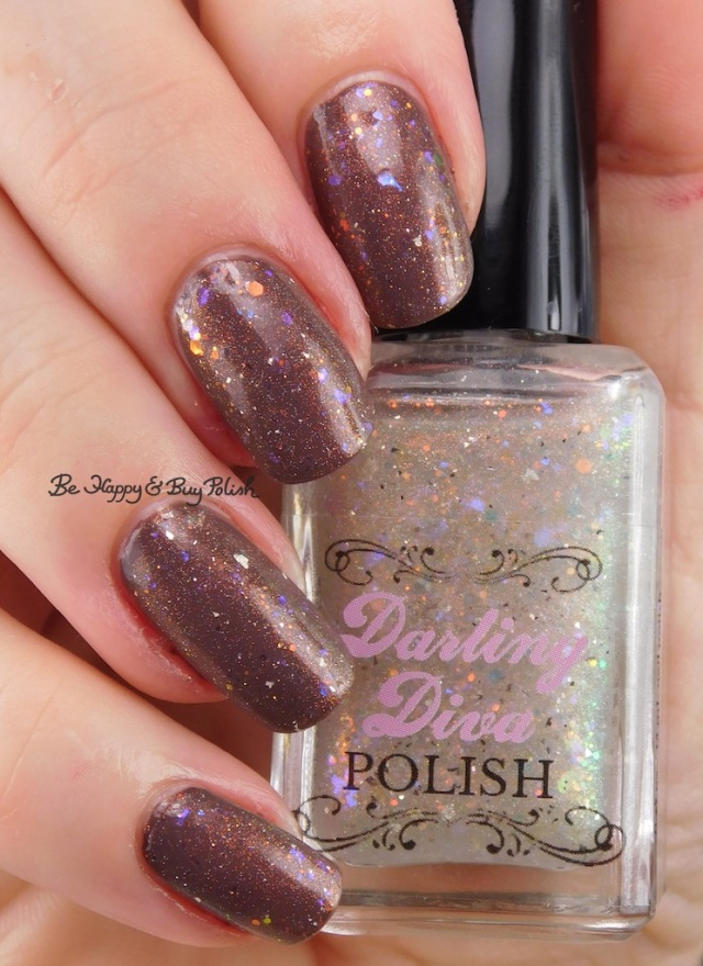 Darling Diva Polish Unicorn Pee over brown | Be Happy And Buy Polish