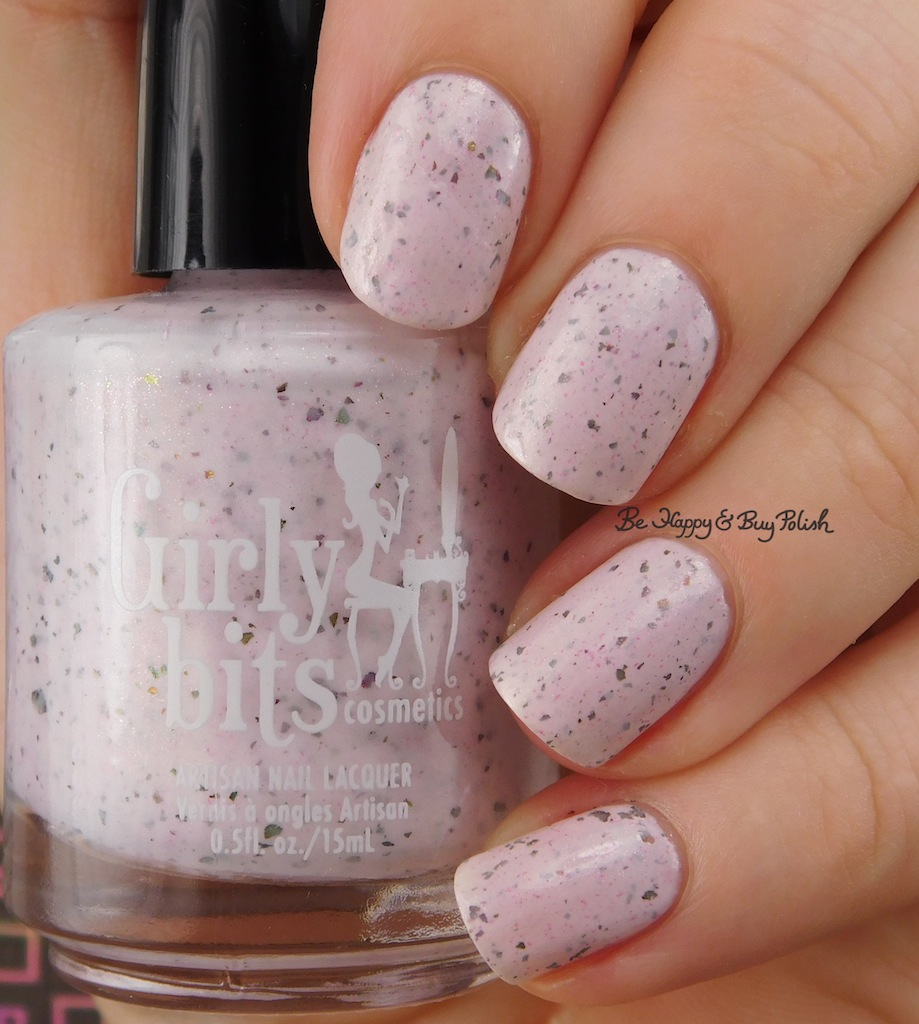 Girly Bits Cosmetics In One Year and Out the Other | Be Happy And Buy Polish - Flower Gradient Nail Art With Girly Bits Cosmetics January 2017