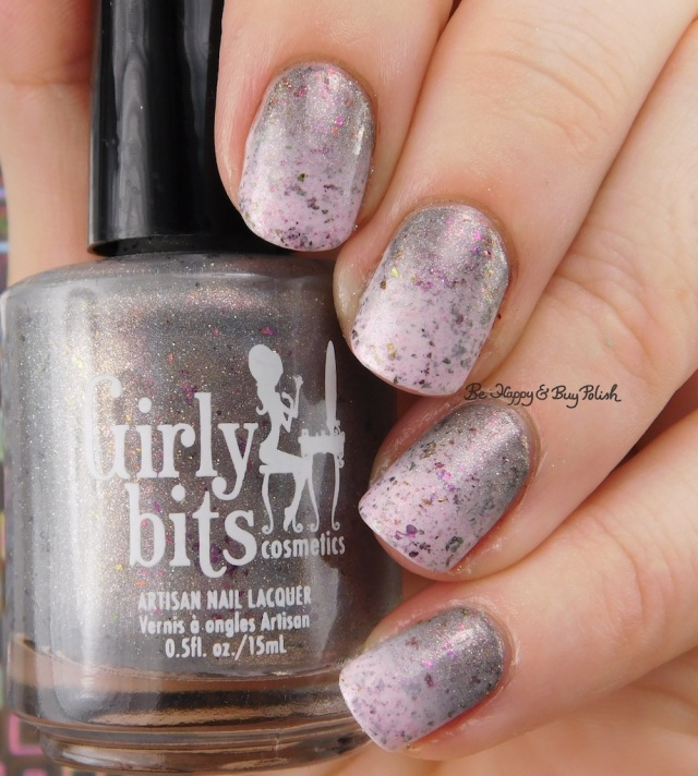 Girly Bits Cosmetics Steely Resolution and In One Year and Out the Other gradient | Be Happy And Buy Polish