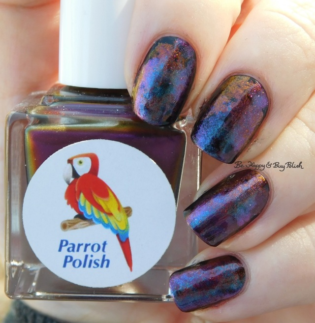 Parrot Polish Multichrome Madness nail polish trio smoosh manicure natural light | Be Happy And Buy Polish