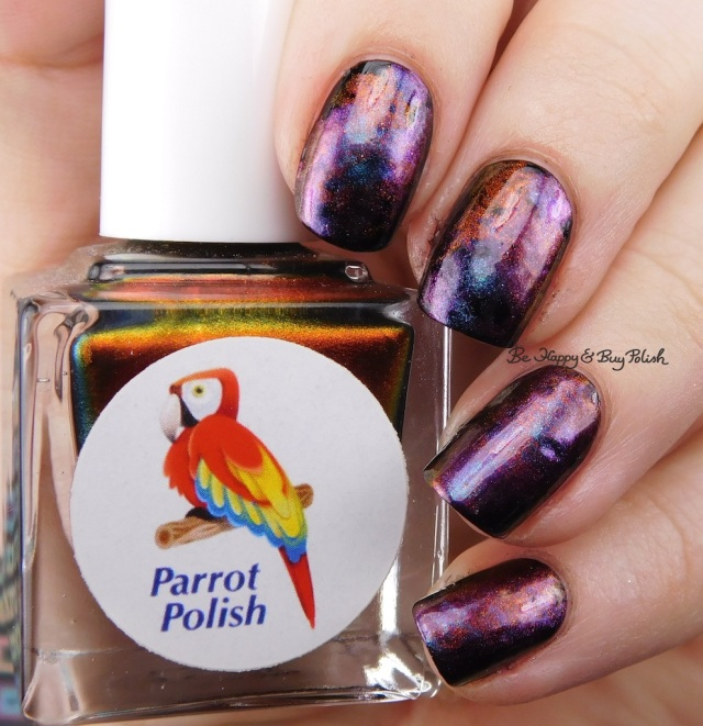 Parrot Polish Multichrome Madness nail polish trio smoosh manicure | Be Happy And Buy Polish