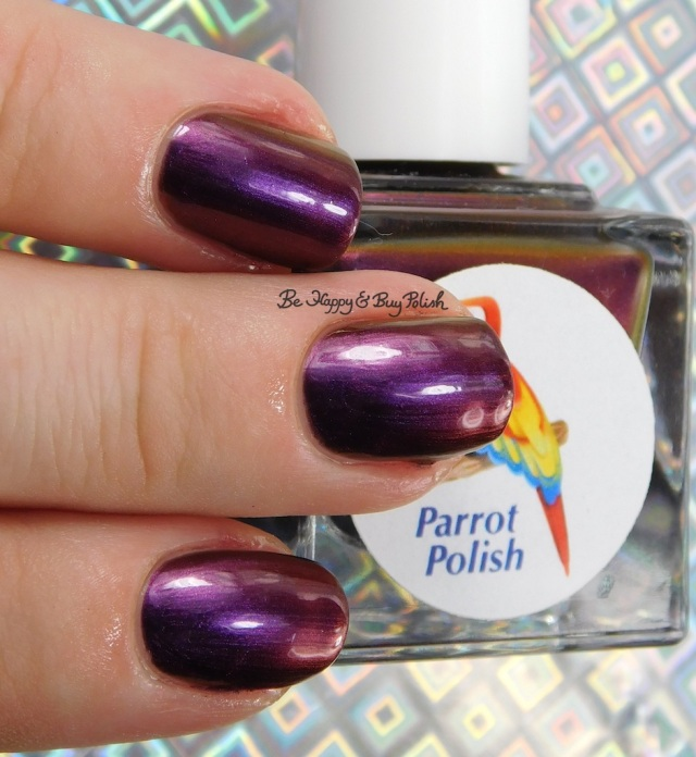 Parrot Polish Opulent Midnight low light | Be Happy And Buy Polish