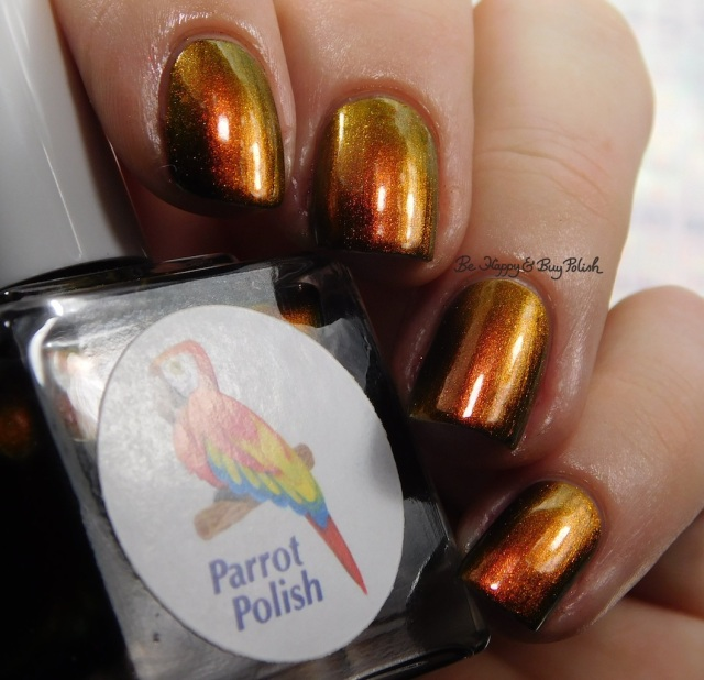 Parrot Polish Phoenix Rising burnt orange red | Be Happy And Buy Polish