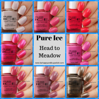 Pure Ice Nail Polish Head to Meadow swatches + review