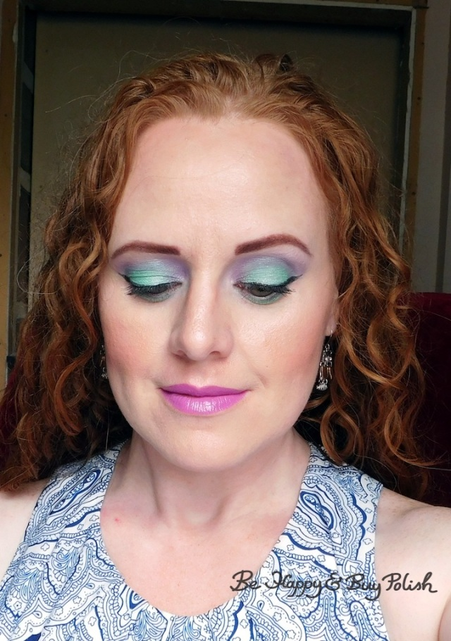 redhead makeup with Glamour Doll Eyes and Profusion Lip Luster Cheshire | Be Happy And Buy Polish
