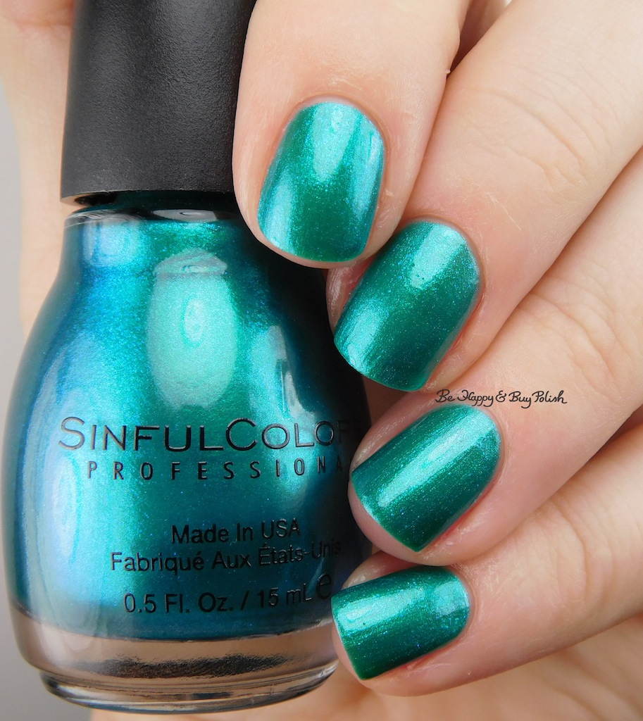 Sinful Colors Soul Mate, Jade Kat, So Daupe!, Deep End nail polish ...
