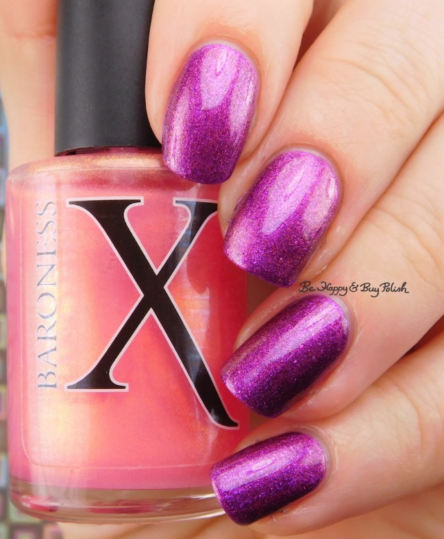 Baroness X Fire Opal over Sephora by OPI What Film Noir You In? | Be Happy And Buy Polish