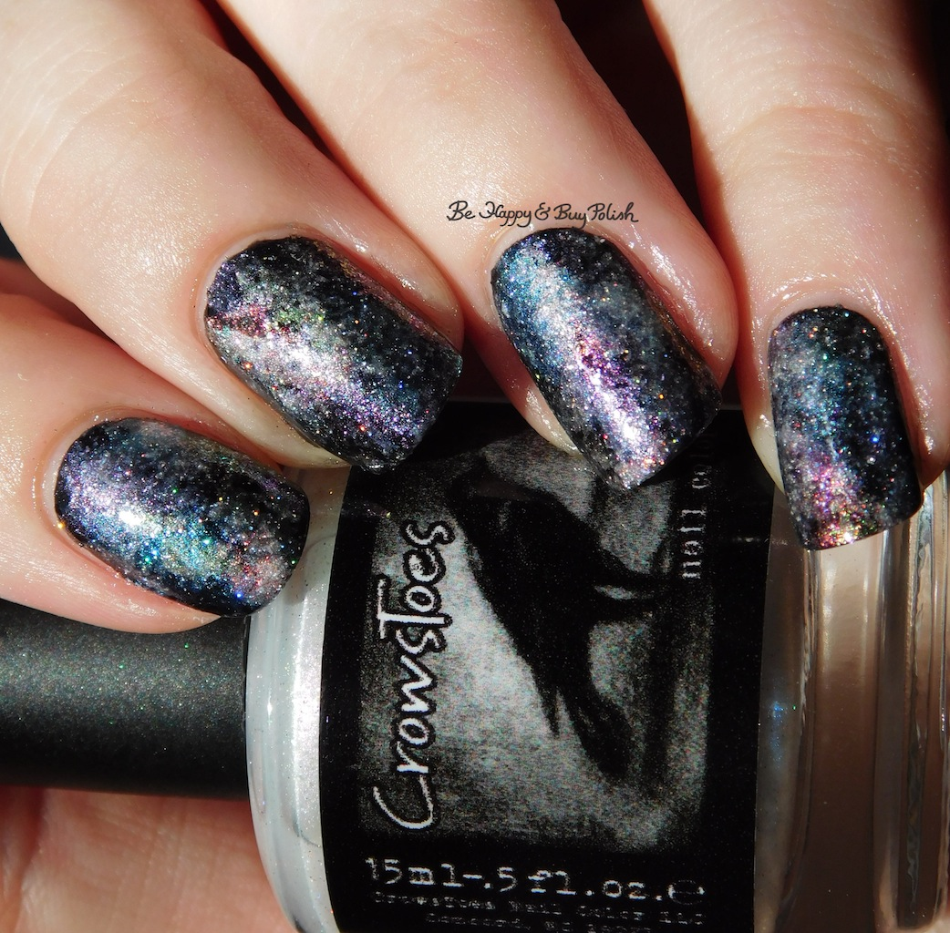 CrowsToes Nail Color Pearls of Wisdom galaxy nail art | Be Happy and ...