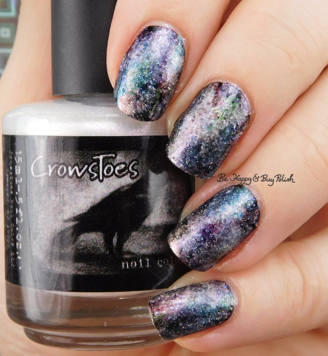 CrowsToes Pearls of Wisdom collection galaxy nail art | Be Happy And Buy Polish