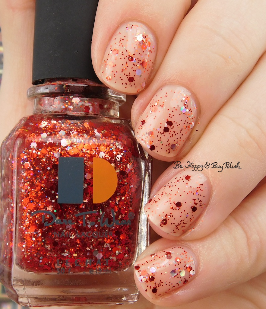 LeChat Dare to Wear glitter nail polishes swatch + review | Be Happy ...