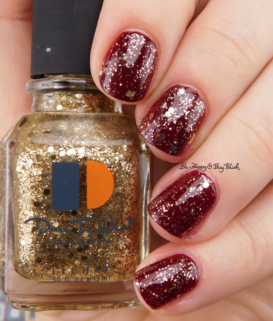lechat dare to wear glitter nail polishes swatch review be happy and buy polish. Black Bedroom Furniture Sets. Home Design Ideas