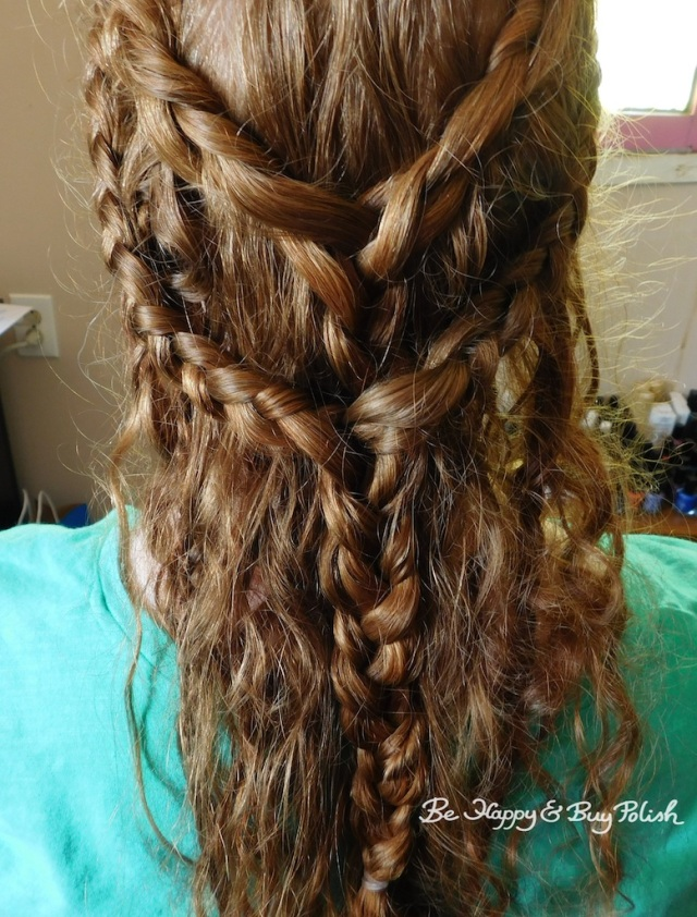 Renaissance Faire long hair braids back view | Be Happy And Buy Polish