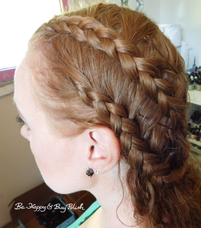 Renaissance Faire long hair braids side view | Be Happy And Buy Polish