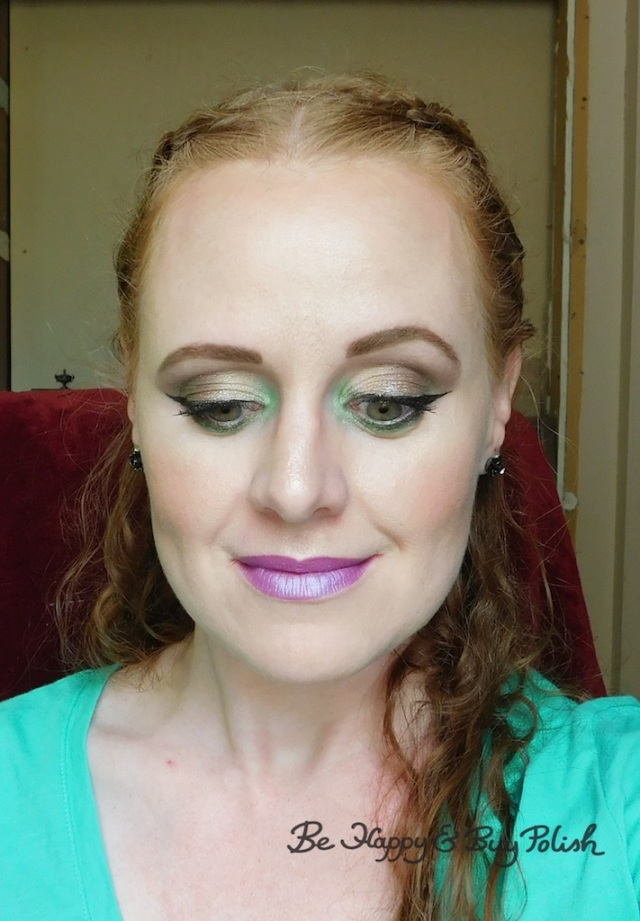 Renaissance Faire makeup for redheads with Wet N Wild, Glamour Doll Eyes, Revlon | Be Happy And Buy Polish