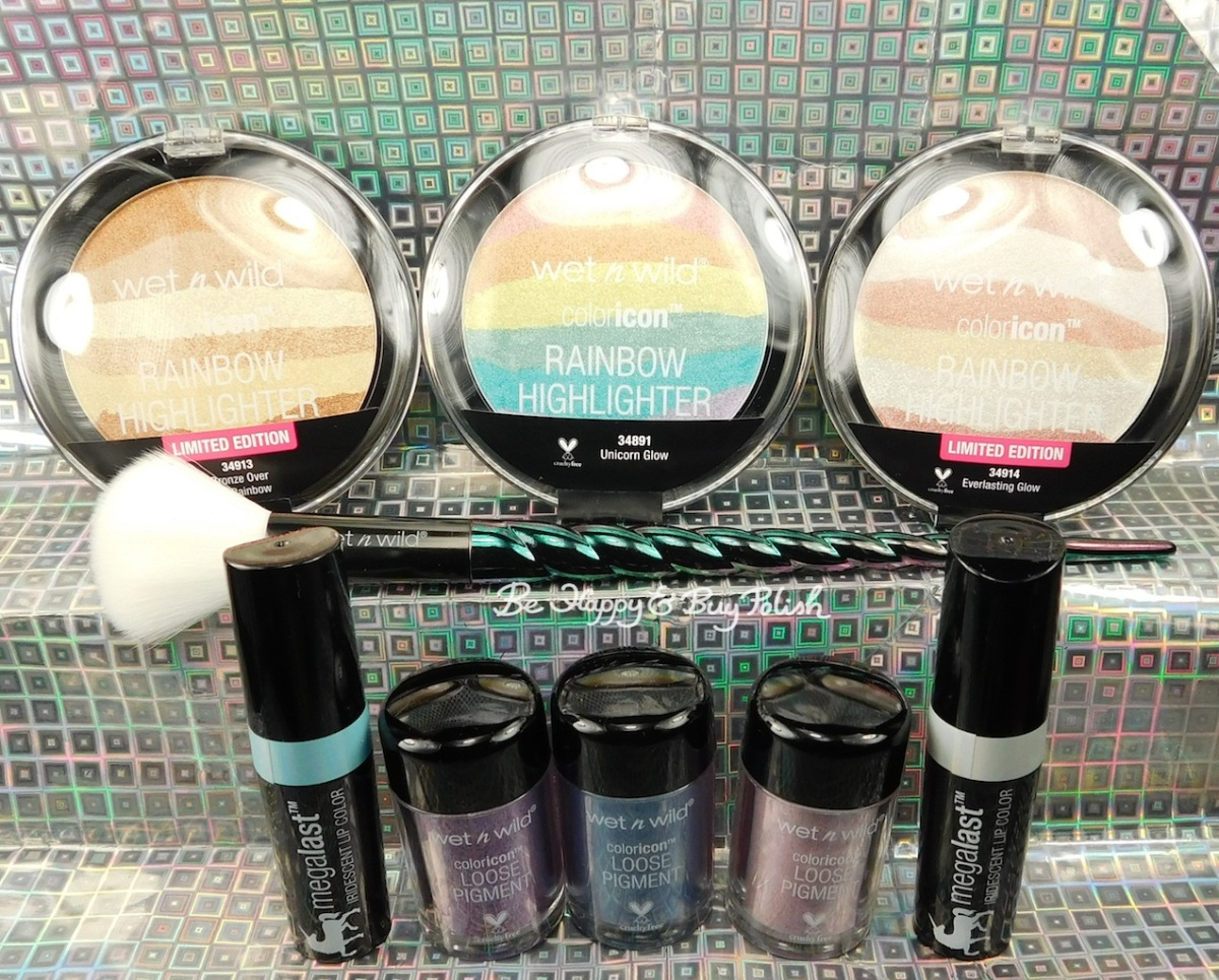 Wet N Wild Unicorn Glow makeup swatches + review + look