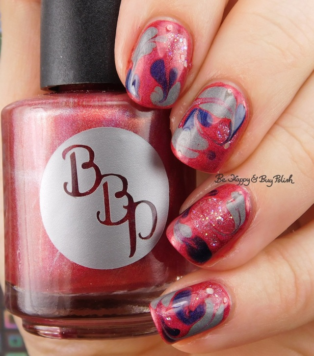 4th of July drag marble with Bad Bitch Polish | Be Happy And Buy Polish