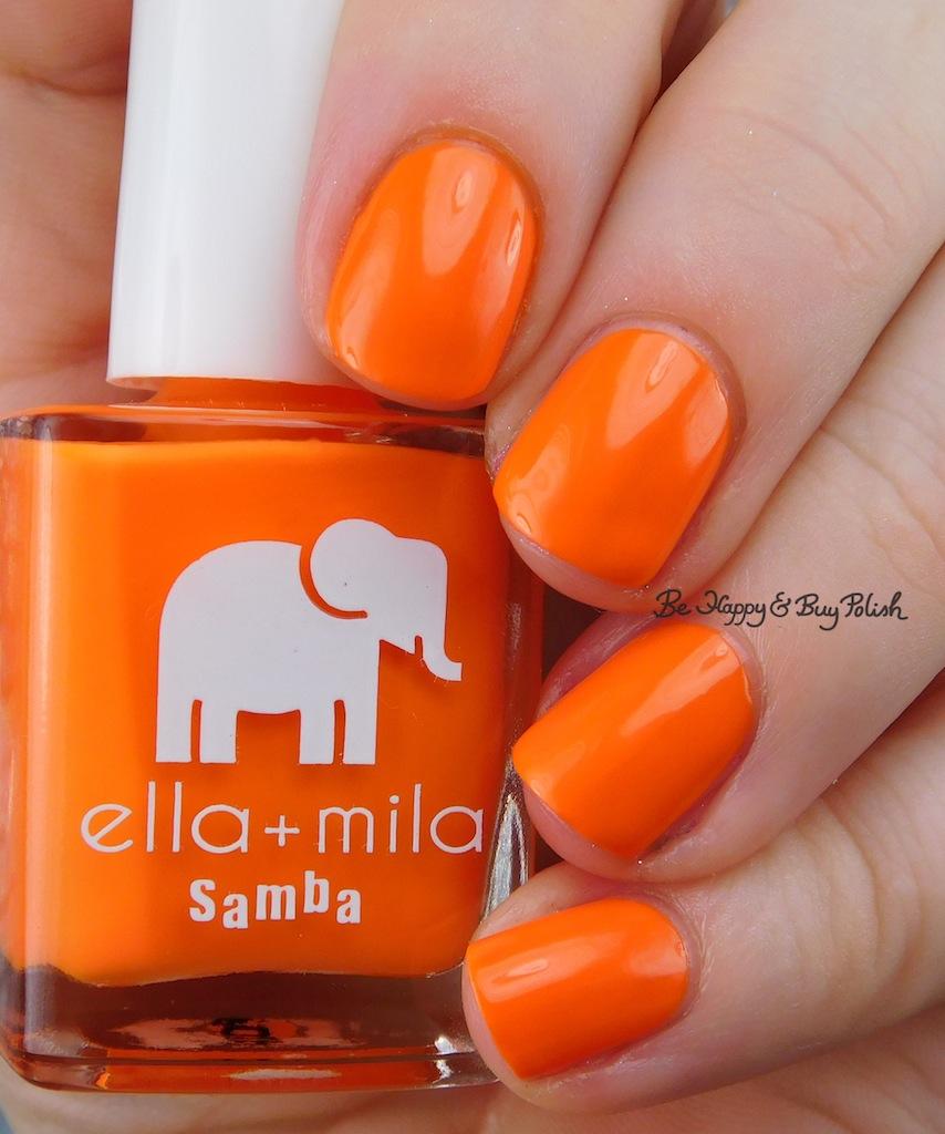Ella Mila Cause I M Happy Nail Polish Swatch Review Be Happy