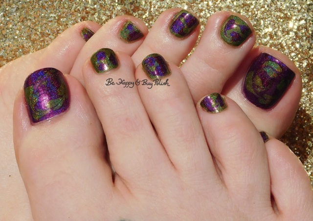 holographic drag marble pedicure with Different Dimension I Wish I Was a Little Bit Taller, Fatigued | Be Happy And Buy Polish
