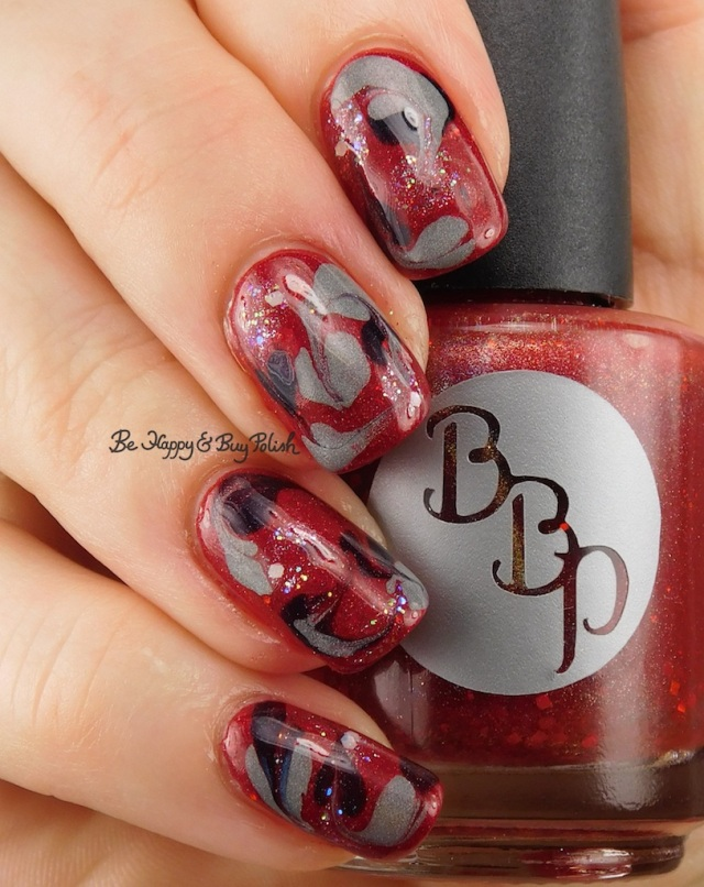 Independence Day drag marble with Bad Bitch Polish | Be Happy And Buy Polish