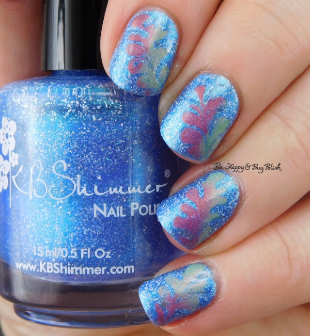 KBShimmer We Make Your Dreams Come Blue, Fancy Gloss Siren's Lure drag marble cold state | Be Happy And Buy Polish