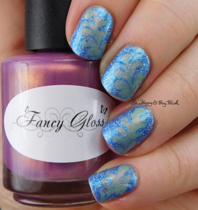 KBShimmer We Make Your Dreams Come Blue, Fancy Gloss Siren's Lure drag marble | Be Happy And Buy Polish