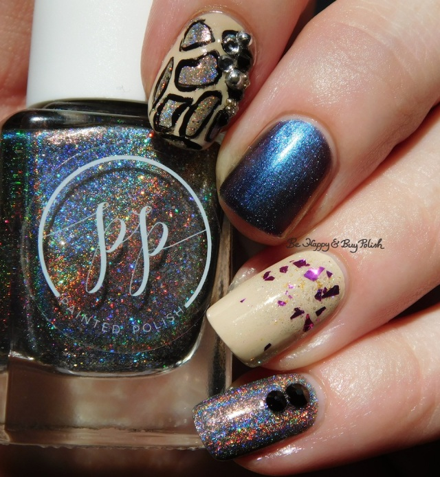 Painted Polish Gray Goddess, CrowsToes Damned If You Do, Turtle Tootsie Polishes Aquarius | Be Happy And Buy Polish