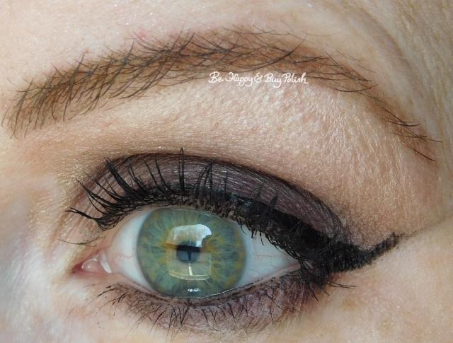 Sephora eyeshadow palette for green eyes, Jesse's Girl liquid eyeliner, Hope Girl mascara | Be Happy And Buy Polish