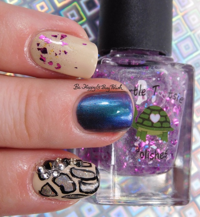 Turtle Tootsie Polishes Aquarius, Painted Polish Gray Goddess, CrowsToes Damned If You Do | Be Happy And Buy Polish