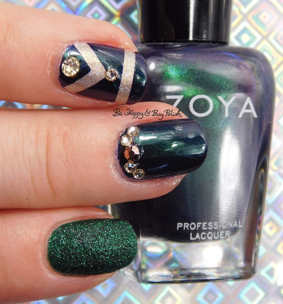 Art Deco nail art with Zoya Elphie, Olivera, Alicia, and Darling ...