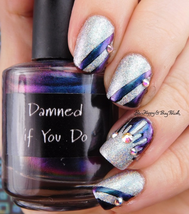 CrowsToes Damned If You Do, ILNP Spring Bouquet striped mani | Be Happy And Buy Polish