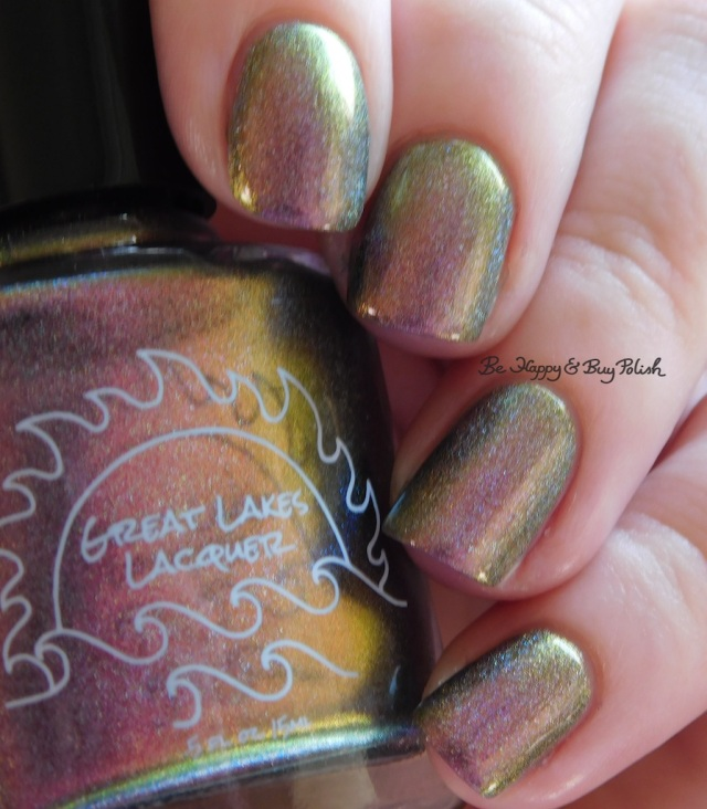 Great Lakes Lacquer The Centre Cannot Hold bronze to olive | Be Happy And Buy Polish
