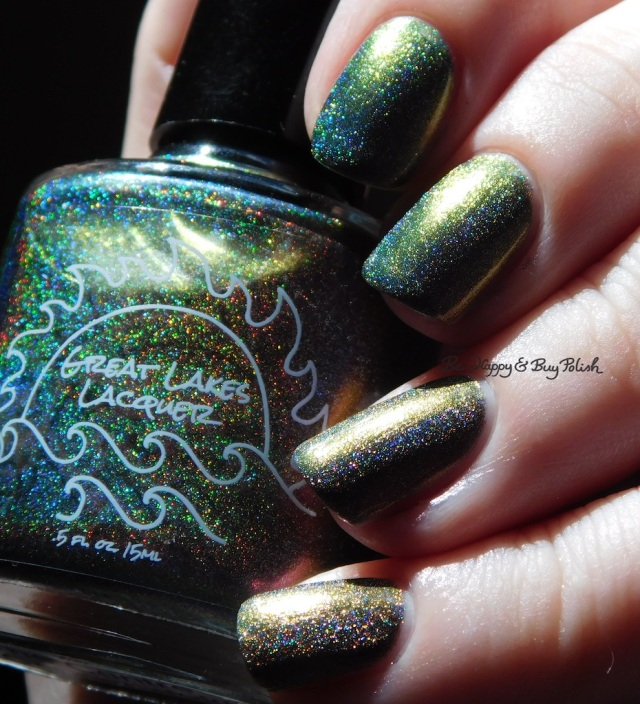 Great Lakes Lacquer The Centre Cannot Hold green holographic | Be Happy And Buy Polish