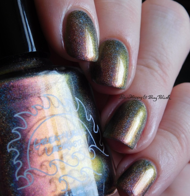 Great Lakes Lacquer The Centre Cannot Hold pink green gold | Be Happy And Buy Polish