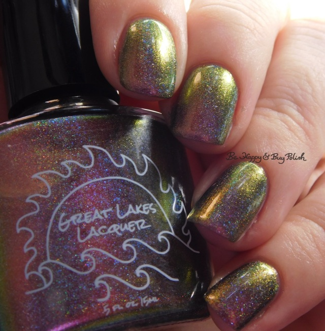 Great Lakes Lacquer The Centre Cannot Hold pink to green | Be Happy And Buy Polish