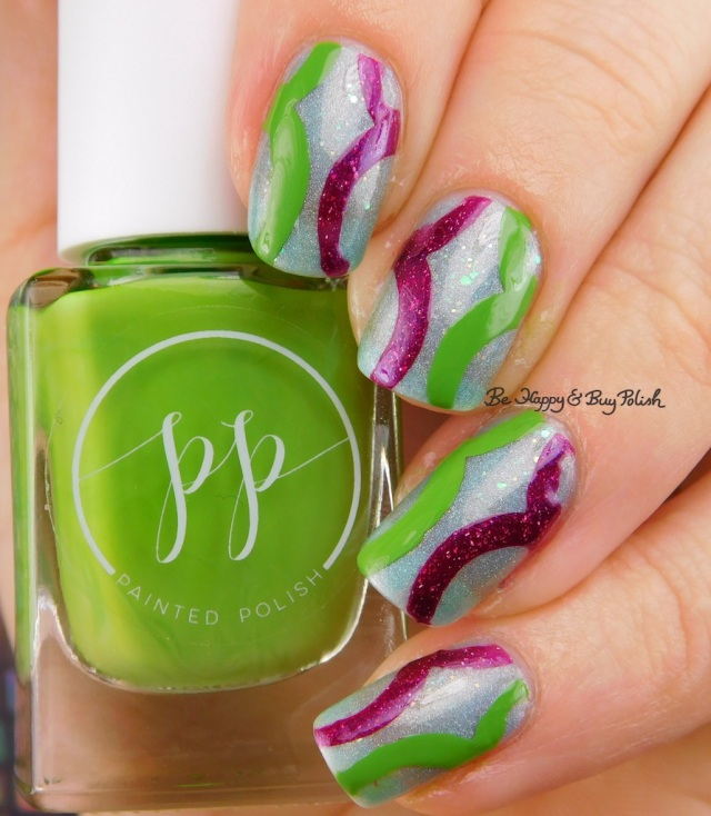 Painted Polish Stamped in Greenery, Contrary Polish Feel the Spark, Octopus Party Nail Lacquer Octopus Prime | Be Happy And Buy Polish
