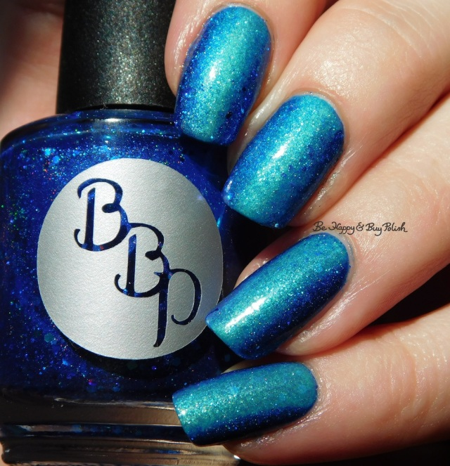 Bad Bitch Polish Blue My Mind, Darling Diva Mermaid Pee, essie Viva Antigua! vertical gradient | Be Happy And Buy Polish