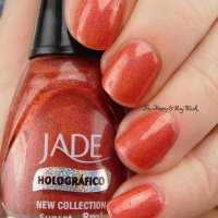 Jade Sunset nail polish swatch + review